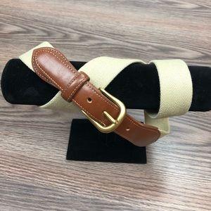 Coach Tan Wool & Leather Belt 34